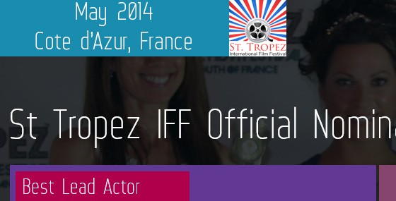 Paul Alexandro now nominated for best lead actor at St.Tropez